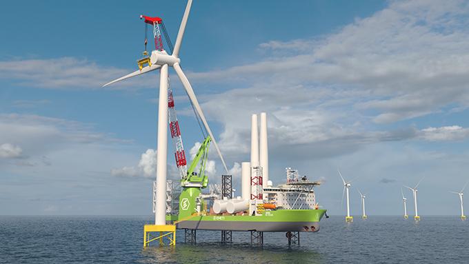 [보도자료]두산중공업, 해상풍력발전기 설치용 선박 기자재 공급